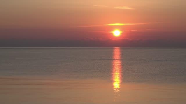 sunrise over the adriatic sea - adriatic sea stock videos & royalty-free footage
