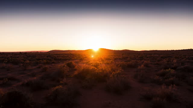 sunrise over the australian outback - sunrise dawn stock videos & royalty-free footage