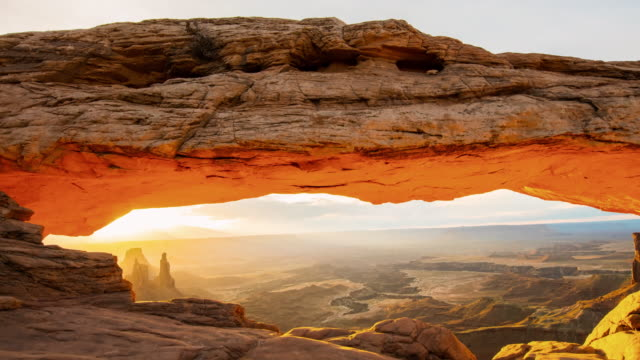 t/l 8k sunrise over the canyonlands national park - national landmark stock videos & royalty-free footage