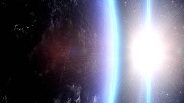 sunrise over the earth from space - space exploration stock videos & royalty-free footage