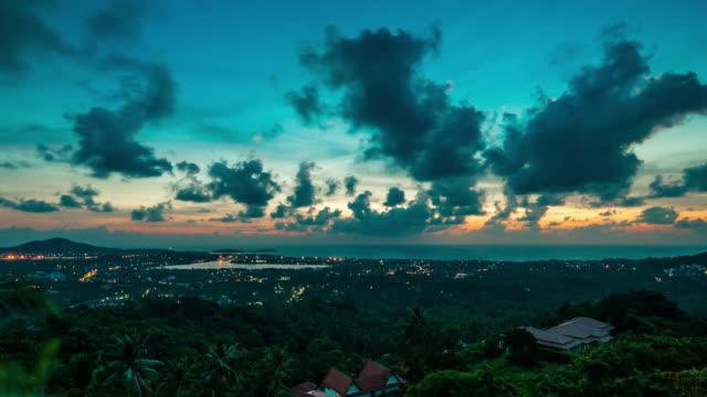 Sunrise over the island 4K
