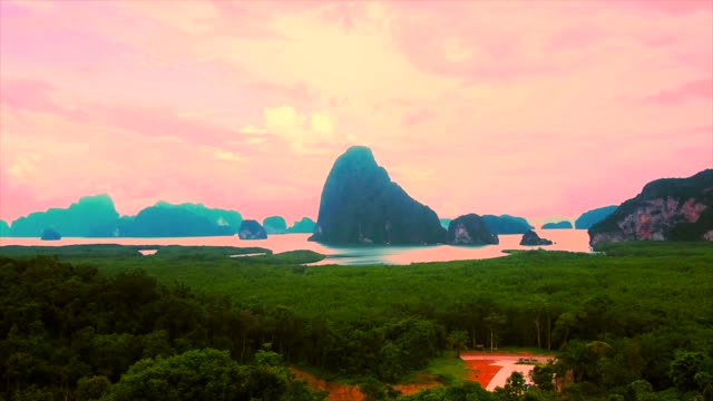 sunrise over the mountain, samet nang she - stratocumulus stock videos and b-roll footage