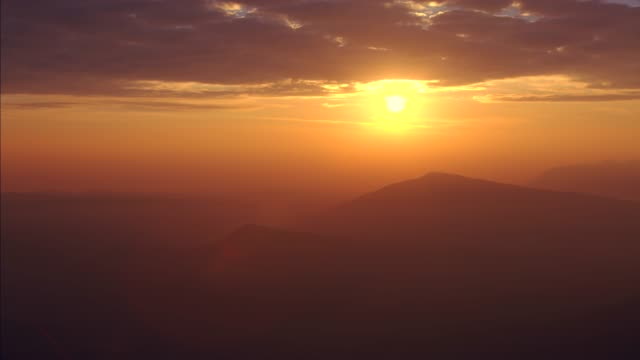 sunrise over the mountain , time lapse - sunset stock videos & royalty-free footage
