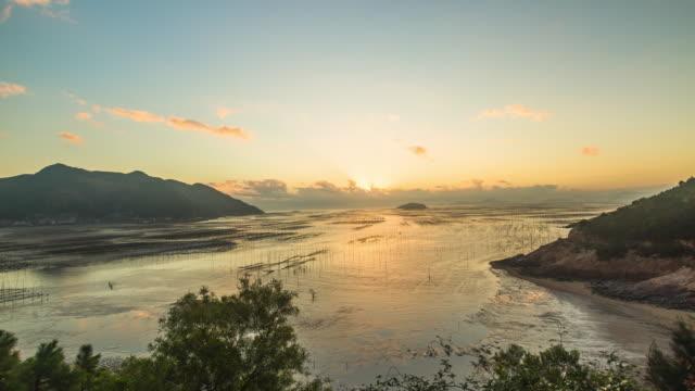 vídeos y material grabado en eventos de stock de sunrise over the nori field - poste de madera