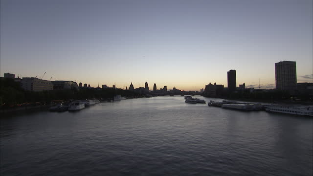 Sunrise over the River Thames London Available in HD.