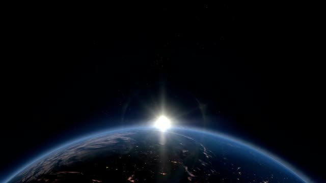 sunrise over the world. hd - solar flare stock videos and b-roll footage