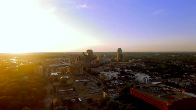 sunrise over winston-salem north carolina - film montage stock videos & royalty-free footage