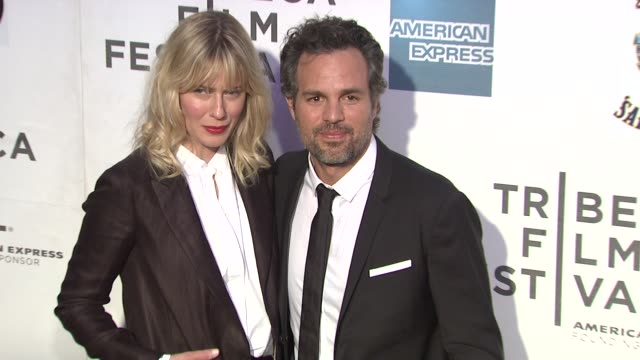 sunrise ruffalo and mark ruffalo at 'marvel's the avengers' premiere 2012 tribeca film festival closing night on 4/28/2012 in new york ny united... - mark ruffalo stock videos and b-roll footage