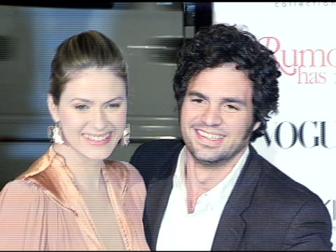 sunrise ruffalo and mark ruffalo at the 'rumor has it' world premiere at grauman's chinese theatre in hollywood california on december 15 2005 - mark ruffalo stock videos and b-roll footage