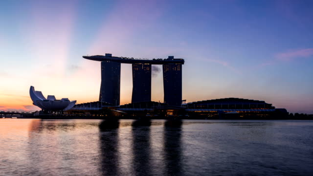 Sunrise scene at Marina Bay Sands