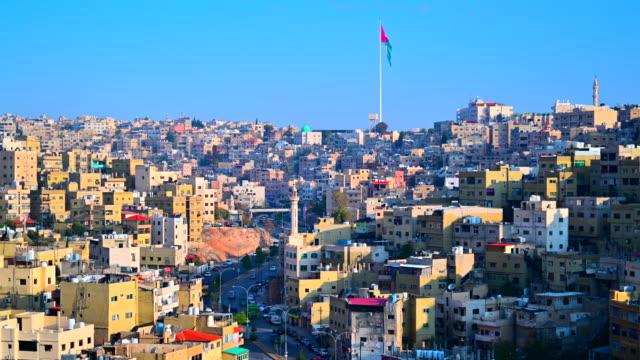 ヨルダン ・ アンマン市首都の日の出シーン - ヨルダン点の映像素材/bロール