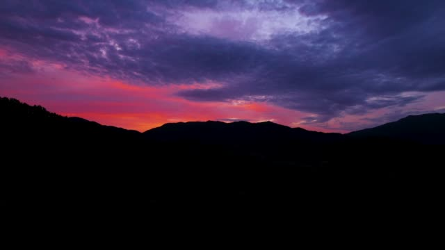 sunrise scenery over gangwon province mountain edge and field, south korea - pink colour stock videos & royalty-free footage