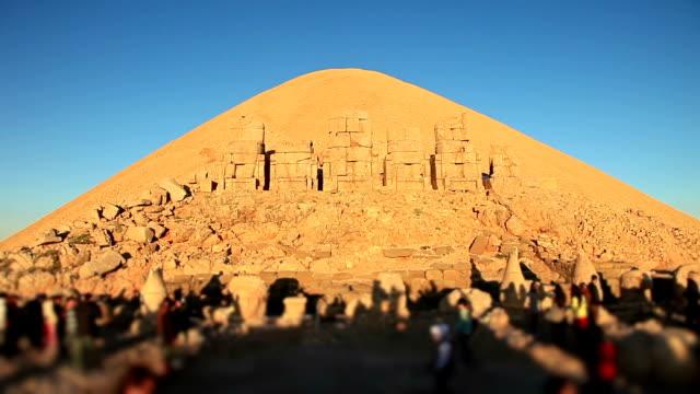 hd: sunrise; sculptures of the commagene kingdom, nemrud mountain,turkey - mesopotamia stock videos and b-roll footage