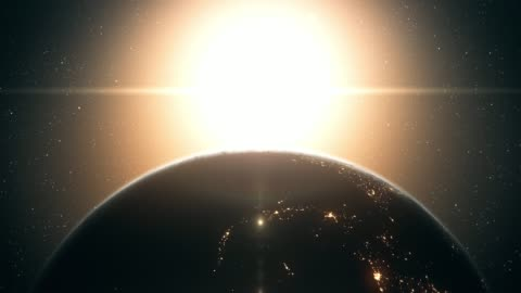 sunrise seen from outer space (close up, vertical movement) - time stock videos & royalty-free footage
