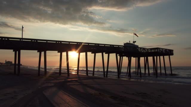 Sunrise Through an Ocean City Pier