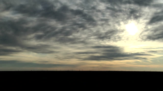 sunrise through high cloud - altocumulus stock videos and b-roll footage