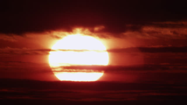 """sunrise through shimmering heat haze, worcestershire, england - """"bbc natural history"""" stock videos & royalty-free footage"""