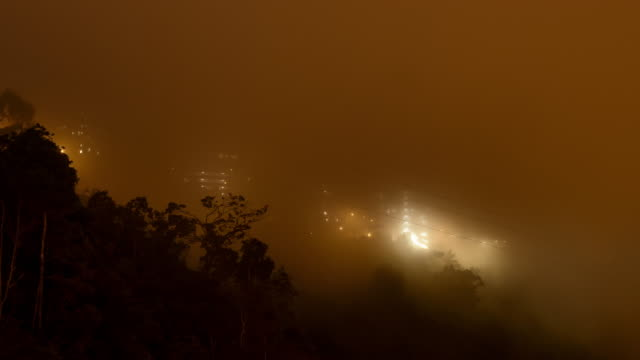 sunrise time lapse at genting highlands, malaysia. - chin stock videos and b-roll footage