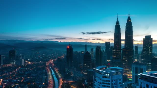 Sunrise Time Lapse at Kuala Lumpur City Centre