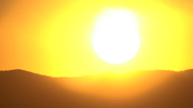 sunrise time lapse over a mountain in new mexico - new mexico stock videos & royalty-free footage