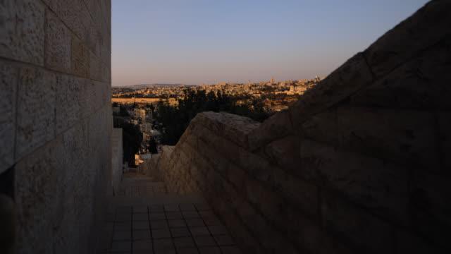 sunrise time-lapse from the byu jerusalem center. - jerusalem stock videos and b-roll footage