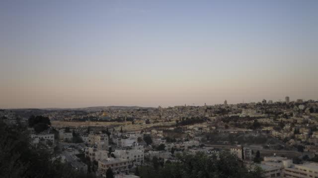 sunrise time-lapse from the byu jerusalem center. - jerusalem stock-videos und b-roll-filmmaterial
