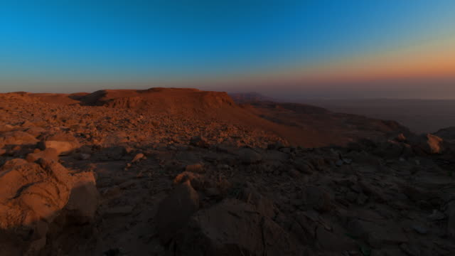 Sunrise time-lapse near the Dead Sea, Israel.