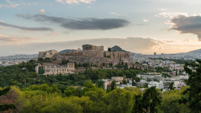 Sunrise Timelapse of the Acropolis of Athens
