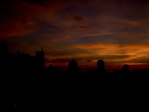 Sunrise timelapse over Jakarta, Indonesia