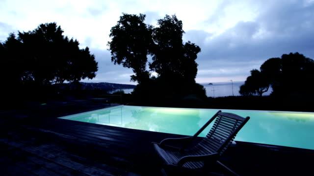 Sunrise Timelapse over Swimming Pool