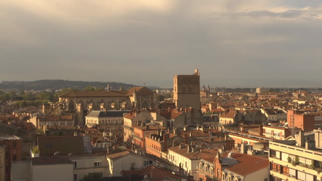 sunrise - toulouse cathedral - toulouse stock videos & royalty-free footage