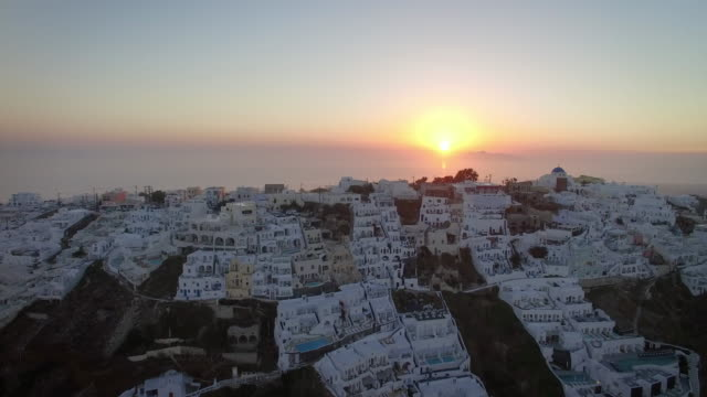 sunrise video of imerovigli, santorini, greece - insel santorin stock-videos und b-roll-filmmaterial