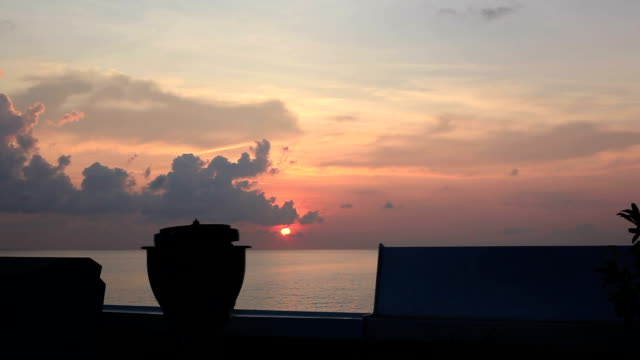 Sunrise. View from ship.