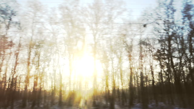 sunrise view from train window - passenger train stock videos & royalty-free footage