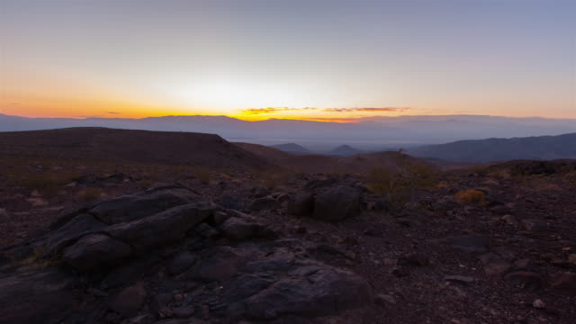 Sunrise view of Death Valley