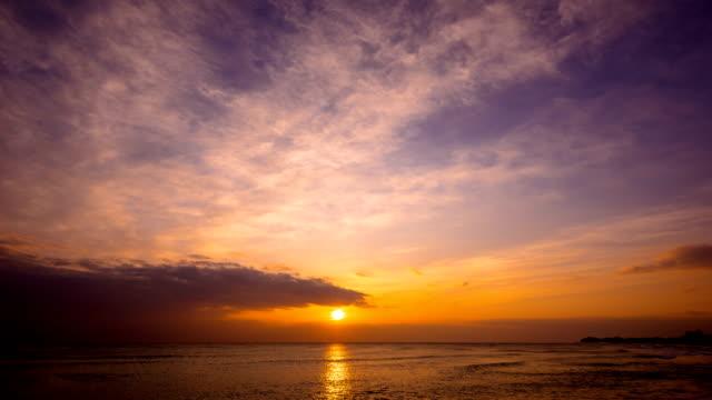 Sunrise view of seascape at Naksan Beach (Popular beach in Korea)
