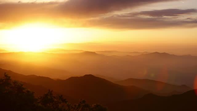 Sunrise view of Sobaeksan mountain