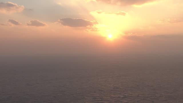 Sunrise view of the east sea near Dokdo island