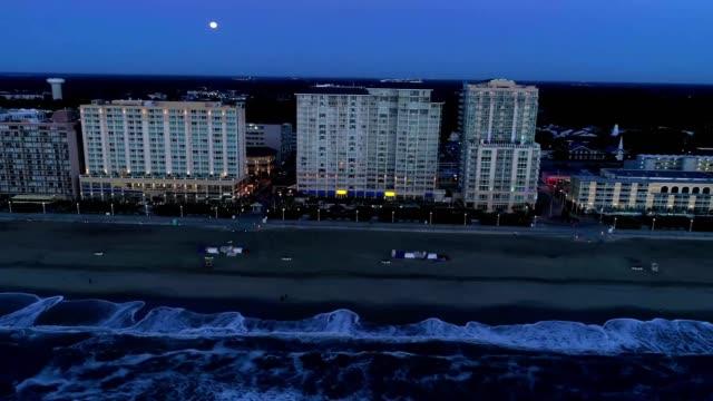 sunrise virginia beach oceanfront - virginia beach stock videos & royalty-free footage