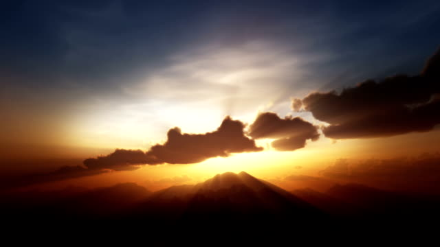 sunrise/sunset over mountain top - tranquility stock videos & royalty-free footage