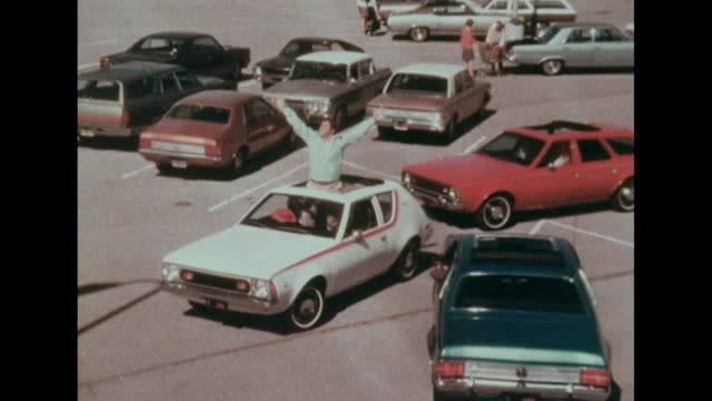 a sunroof on a 1971 american motors gremlin hornet or sportabout isn't just a sunroof it's the sun shining in the morning it's the moon beaming at... - advertisement stock videos & royalty-free footage
