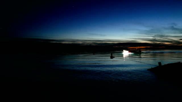 sunset above coastline. romantic sky - romantic sky stock videos & royalty-free footage