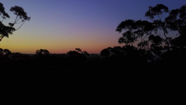 4K Sunset Aerial View Flying upwards, Jervis Bay, Australia.