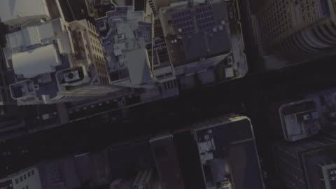 sunset aerial view of sydney cbd. sydney australia - financial district stock videos & royalty-free footage
