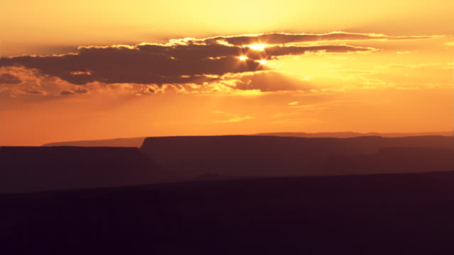 Sunset and mesas