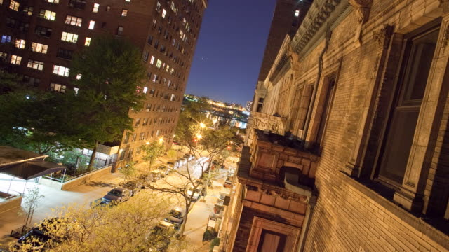 sunset and moonset from manhattan neighborhood | timelapse - upper west side manhattan stock videos and b-roll footage