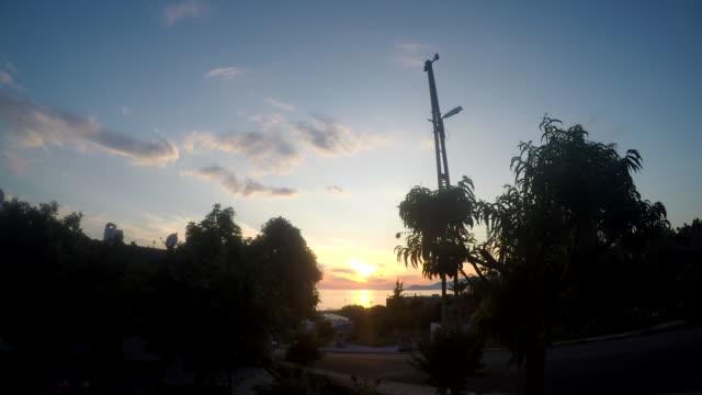sunset and night at Alanya