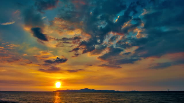 sunset and sea - dramatic sky stock videos & royalty-free footage