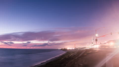 sunset and traffic - carlsbad california stock videos & royalty-free footage