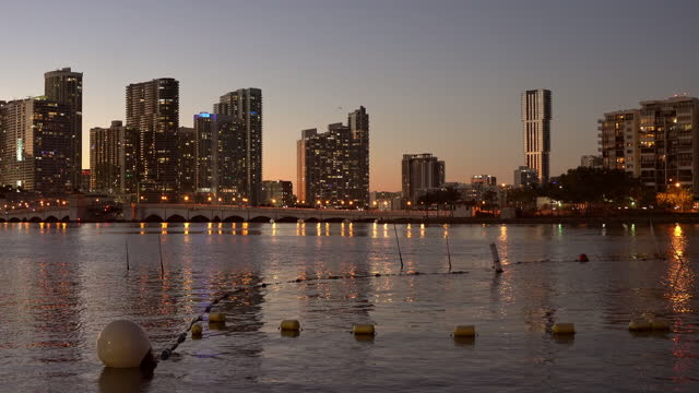 sunset at biscayne bay - biscayne bay stock videos & royalty-free footage